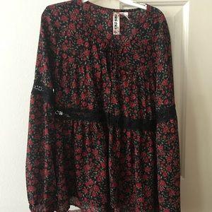Tops - Rose long sleeve blouse